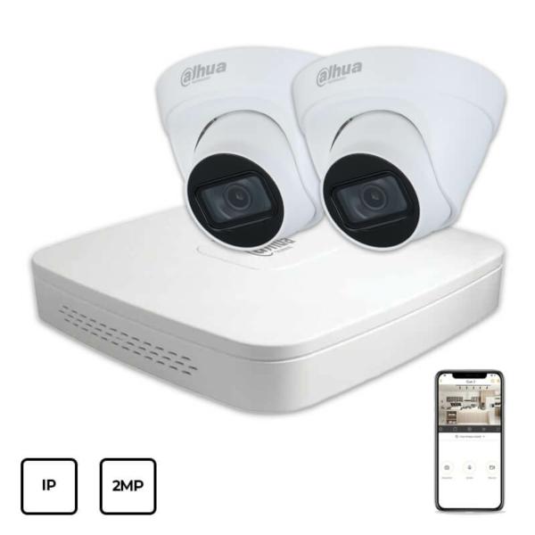 Відеонагляд/Комплекти відеоспостереження Комплект IP відеоспостереження Dahua IP KIT 2x2MP INDOOR