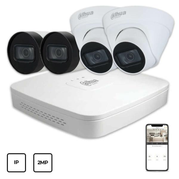 Video surveillance/CCTV Kits IP Video Surveillance Kit Dahua IP KIT 4x2MP INDOOR-OUTDOOR