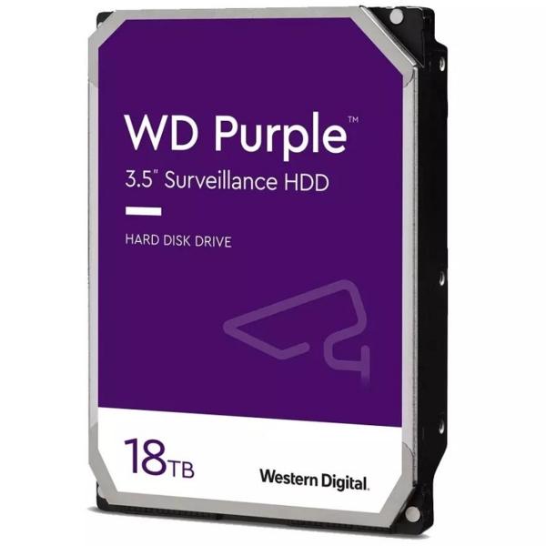 Відеонагляд/Жорсткі диски (HDD) для відеоспостереження Жорсткий диск Western Digital Purple WD180PURZ 18TБ